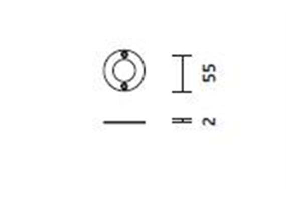 Deckenring für Direktmontage Cubic 9 Stahlblech verzinkt D= 55mm H=2mm
