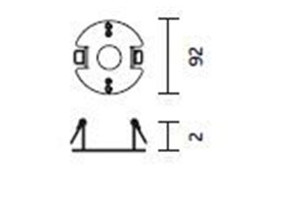 Deckenring für Hohlraumeinbau Cubic 36,49,64 D= 9,2cm H=2cm Stahlblech verzinkt