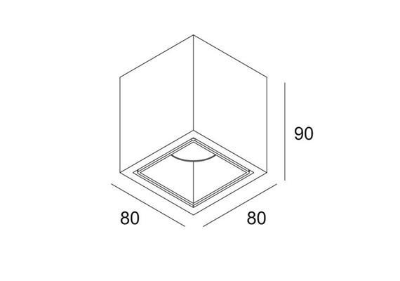 Deckenstrahler Boxy L+ LED 7W ws/ws 240V 33° 618lm 2700K / IP54