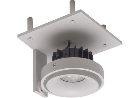 Eb-Strahler randlos 120x120 LED 9.3W 45° silber  240V/ 2700K 705lm CRI90 500mA DC IP20