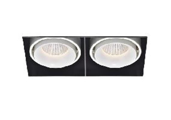 Eb-Strahler rs 178x91 LED 2x 9.3W 45° 2700°K ws-sz  2x9.3W 2x705lm CRI 90 500mA DC IP20