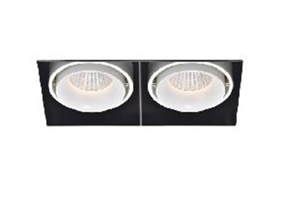 Eb-Strahler rs 178x91 LED 2x 9.3W 45° 3000°K ws-sz  2x9.3W 2x705lm CRI 90 500mA DC IP20