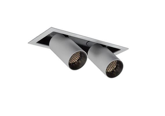 Eb-Strahler Tube due LED 48° 2700°K weiss schwarz  DC 500mA 2x9.3W 2x705lm CRI90 7 IP20