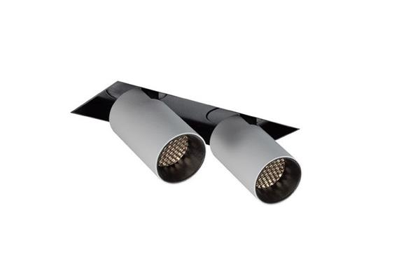 Eb-Strahler Tube randlos LED 48° 3000°K weiss-schwarz DC 500mA 2x9.3W 2x705lm CRI90 IP20
