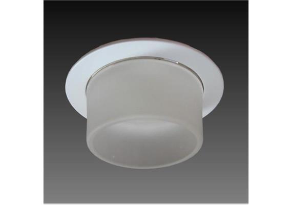 Einbaul. 80mm nickel chrommatt Glas satiniert mit Bajonetverschl. für Retrofit As=68 IP20