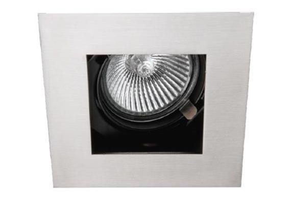 Einbaul. 90x90 schwenkbar 20° silber/schwarz mit Schnappverschl. für PAR16 As=80mm IP20