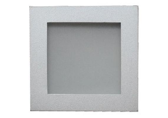 Einbaul. 90x90mm silberfarbig/Glas matt Schnappverschl. für PAR16 As=76x76mm ET=130 IP44