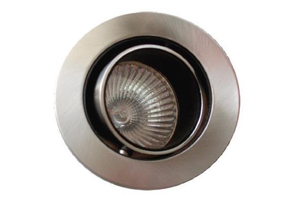 Einbaul. blendfrei 76mm schwenkbar 40° chrommatt  Schnappverschl. für Retrofit As=60 IP20