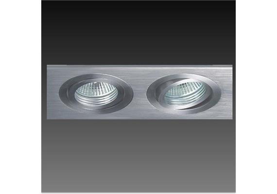 Einbauleuchte 173x90mm HV schwenkbar Alu 230VAC GU10/20-50W/As=80x162 Schnappverschluss