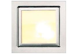 Einbauleuchte 5560 alu eloxiert 12V/G4 10-20W mit Schutzglas 80x80mm / ET=30mm AS=68x68