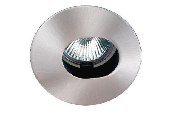 Einbauleuchte 85mm schwenkbar nickel satin mit Schnappverschl. für PAR16 As=68mm IP20