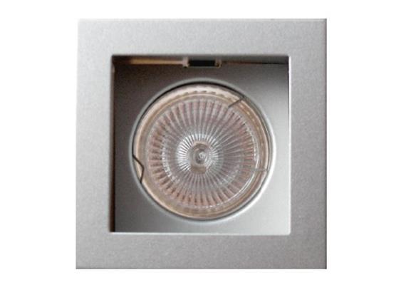Einbauleuchte 85x85 schwenkbar 30° silber/schwarz 12V/GU5.3 20-50W/ET=90mm AS=73x73