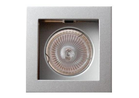 Einbauleuchte 85x85 schwenkbar 30° silber/silber Sprengring für PAR16 As=73x73mm IP20