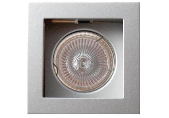 Einbauleuchte 85x85 schwenkbar 30° weiss Sprengring für PAR16 As=73x73mm IP20