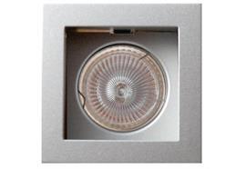 Einbauleuchte 85x85 schwenkbar 30° Sprengring für PAR16 As=73x73mm IP20