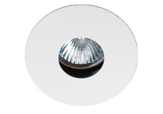 Einbauleuchte 86mm starr chrom matt  mit Schnappverschl. für PAR16 As=68mm IP20