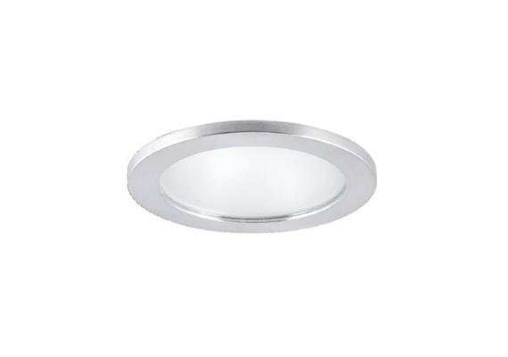 Einbauleuchte 90mm IP44 nickel satiniert/Glas matt 12V Gy 6.35 / 20-50W IP44/As=80 ET=110
