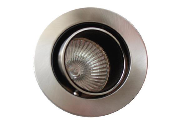Einbauleuchte blendfrei 76mm schwenkbar 40°nickel 12V Gx 5.3 / 20-50W D=76mm As=60mm