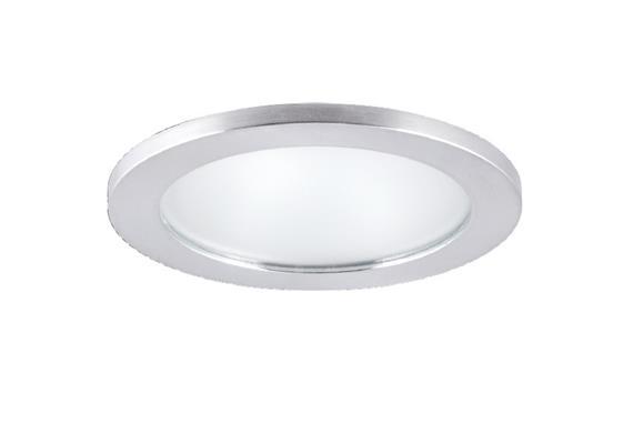 Einbauleuchte D=90mm LED 10W Glas matt / chrommatt 10W COB 4000*K AS=80mm ET=98 / IP44