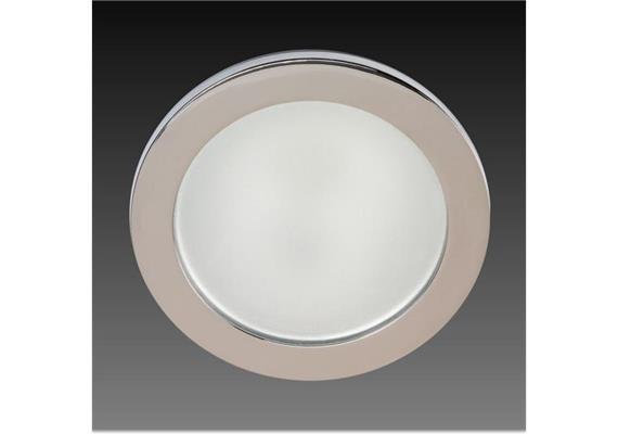 Einbauleuchte HV 90mm IP44 chrom / Glas matt 230V G9 /40W IP44 / As=80mm ET=110