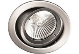 Einbauleuchte schwenkbar 30° chrom 12V Gx 5.3 / 20-50W Ausschnitt=70mm / D=80mm