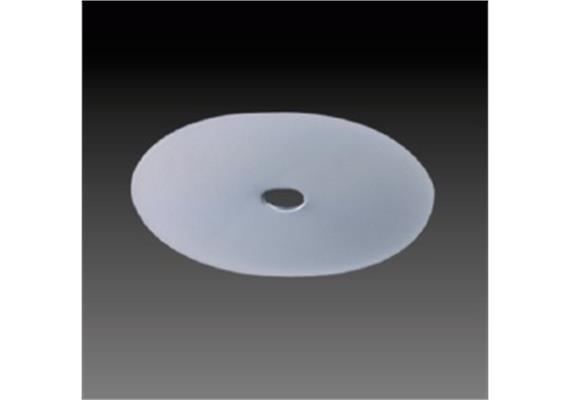 Einbaumodul rund d=80 weiss d=60mm h=1.5mm für M10x1 mit Spreitzfeder für Hohlraum
