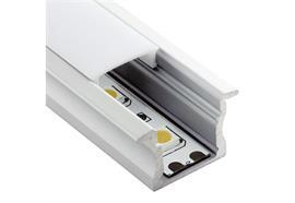Einbauprofil INTRO 15 für LED alu eloxiert B=23.3mm ohne Laschen B=17.2mm H=15.3mm L=4000
