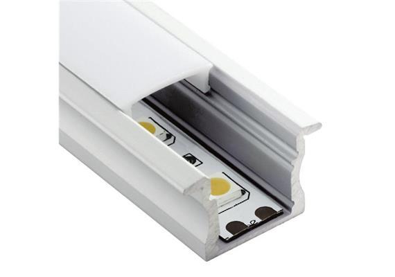 Einbauprofil INTRO 15 für LED alu eloxiert B=23.3mm ohne Laschen B=17.2mm H=15mm L=1000