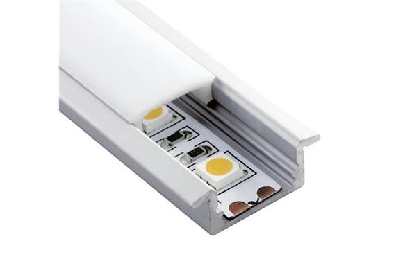 Einbauprofil INTRO 7 für LED alu eloxiert B=23.3mm ohne Laschen B=17.2mm H=8mm L=1000