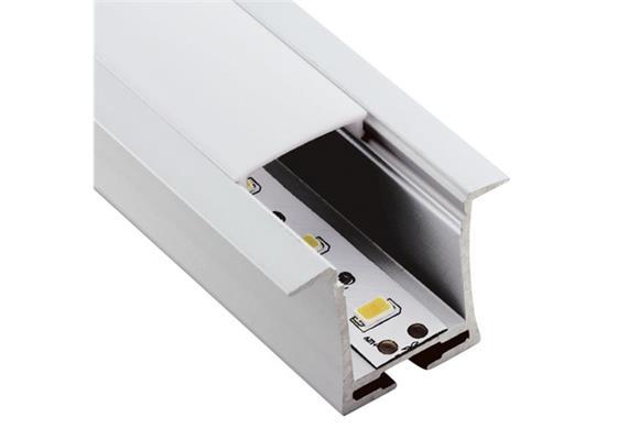 Einbauprofil INTRO T für LED alu eloxiert B=36mm ohne Laschen B=23.6mm H=28mm L=1000mm