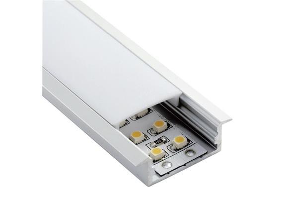 Einbauprofil Intro W für LED alu eloxiert  B=30.2mm ohne Laschen B=23.6mm H=10mm L=1000mm