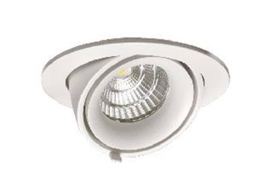 Einbaustrahler dreh-schwenkbar LED 9.3W silber 45°  500mA 3000K 870lm CRI90 D=105mm H=55mm