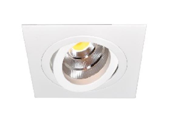 Einbaustrahler LED 10.5W 2700°K schwenk.alu geb. LED 10.5W/500mA/AS=80mm/H=102mm/92x92mm