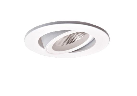 Einbaustrahler LED 10.5W 2700°K schwenk. weiss LED 10.5W/500mA /AS=68mm/H=102mm D=85mm