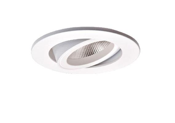 Einbaustrahler LED 10.5W 2700°K schwenk. weiss  LED 10.5W/500mA /AS=68mm/H=102mm D=85mm