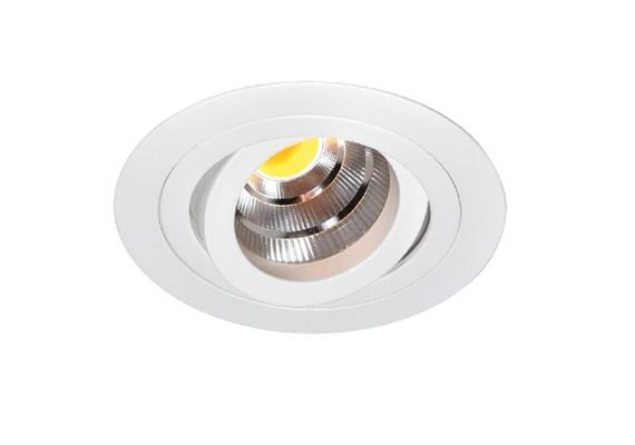Einbaustrahler LED 10.5W 2700°K schwenk. weiss LED 10.5W/500mA /AS=80mm/H=102mm D=92mm