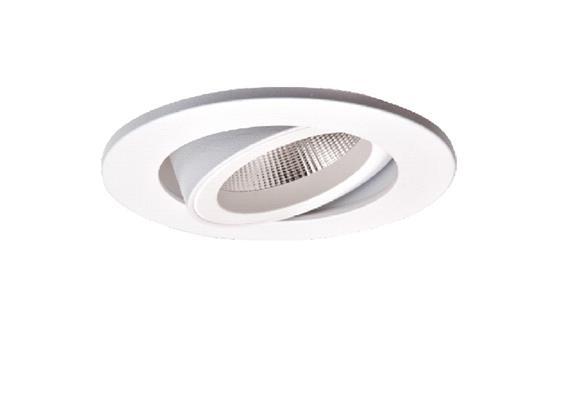 Einbaustrahler LED 10.5W 3000°K schwenk. weiss LED 10.5W/500mA /AS=68mm/H=102mm D=85mm