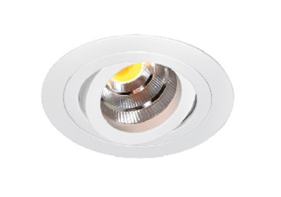 Einbaustrahler LED 10.5W 3000°K schwenk. weiss LED 10.5W/500mA /AS=80mm/H=102mm D=92mm