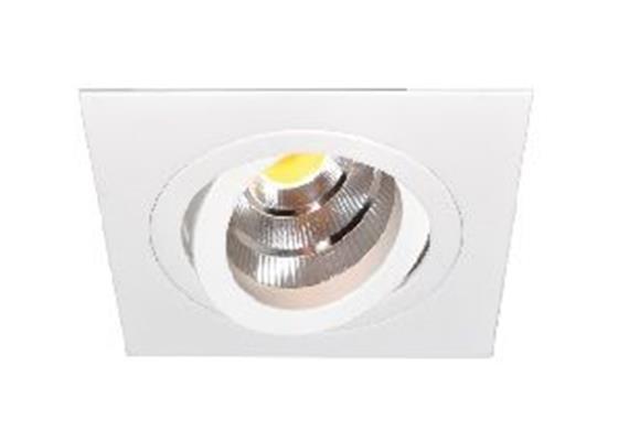 Einbaustrahler LED 10.5W schwenk. 3000°K alu geb.  LED 10.5W/500mA/AS=80mm/H=102mm/92x92mm