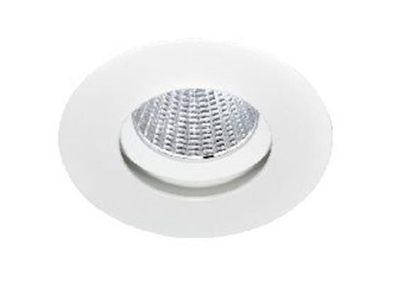 Einbaustrahler LED 15W 3000°K schwenkbar weiss LED 15W/500mA/ AS=95mm / H=110mm / D=120mm