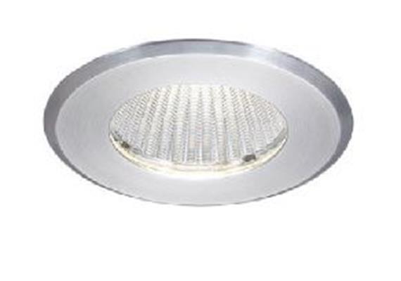 Einbaustrahler LED 15W 3000°K starr alu geb. DC 500mA AS=85mm ET=130 D=98 / IP54