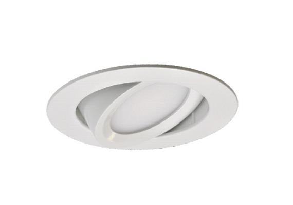 Einbaustrahler LED 9.2W 2700°K chrommat  27V/ 537lm CRI-80 /350mA /schwenkbar 30° IP20