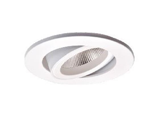 Einbaustrahler LED 9.2W 2700°K schwenk. weiss 500mA CRI 90 863lm /AS=68mm/H=125mm D=84mm