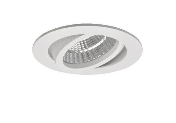 Einbaustrahler LED 9.3W 2700°K 45° silbergrau 350-500mA 6.2W-9.3W /515-705 lm CRI 90 IP20
