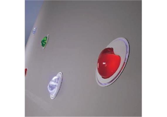 Einbaustrahler LED TUM-Sasso/ Rot/ weiss lackiert 1,2 W/IP20/D=19/ T=5,5