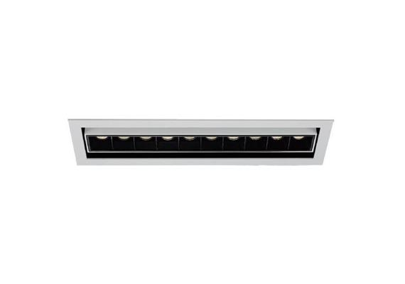 Einbaustrahler Line 10 JS LED 10x2W 3000°K weiss  700mA DC 1280lm CRI90 45° Linse / IP20