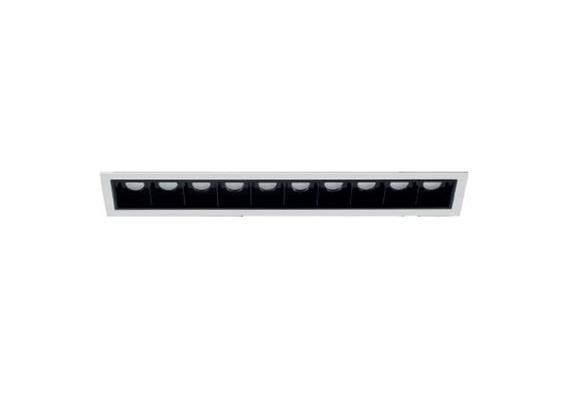 Einbaustrahler Line 10 starr LED 10x2W 3000°K weiss  700mA DC 1740lm CRI90 Linse 48° IP20