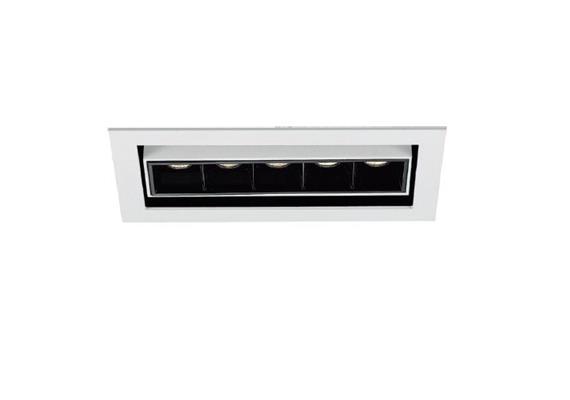 Einbaustrahler Line 5 JS LED 5x2W 3000°K weiss 700mA DC 640lm CRI90 45° Linse / IP20