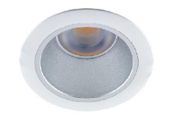 Einbaustrahler starr LED 10W 45° chrommatt 24V/DC / 3000°K / ET=130 D=100 As=85 /IP44