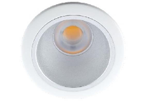 Einbaustrahler starr LED 10W 45° ww chrommatt 24V/DC / 3000°K / ET=130 D=118 As=100 /IP44